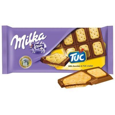 Шоколад молочный Милка TUC с печеньем