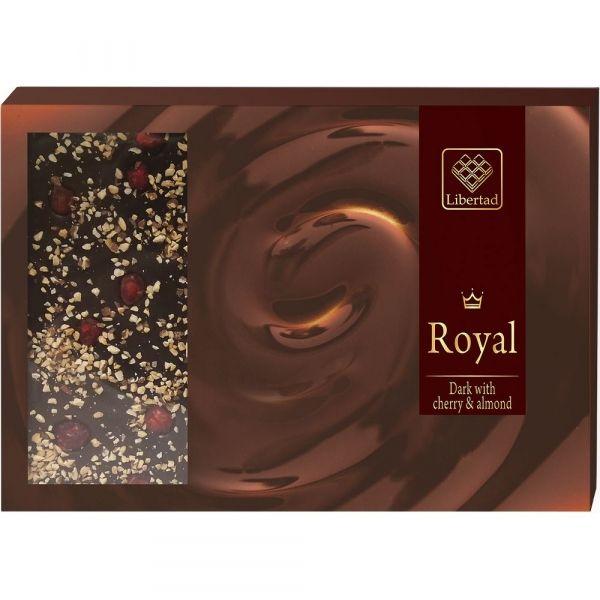 Шоколад Темный с вишней и миндалем