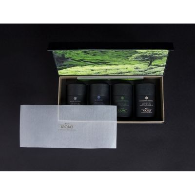 Подарочный набор KIOKO HANA MEGUMI коллекционного зелёного листового чая