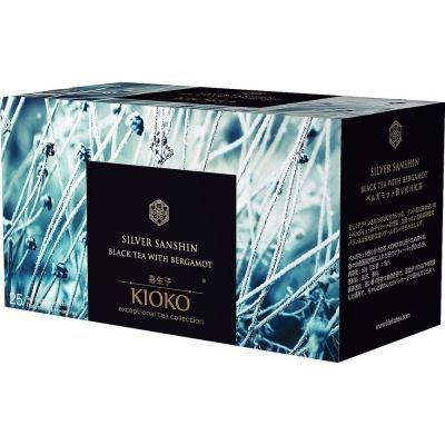 Чай KIOKO Silver Sanshin чёрный с ароматом бергамота 25 пакетиков