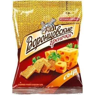 Сухарики-гренки Воронцовские пшеничные со вкусом Сыра