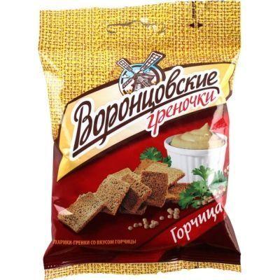 Сухарики-гренки Воронцовские со вкусом Горчицы