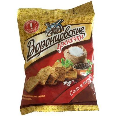 Сухарики-гренки Воронцовские со вкусом Пикантный соль и перец