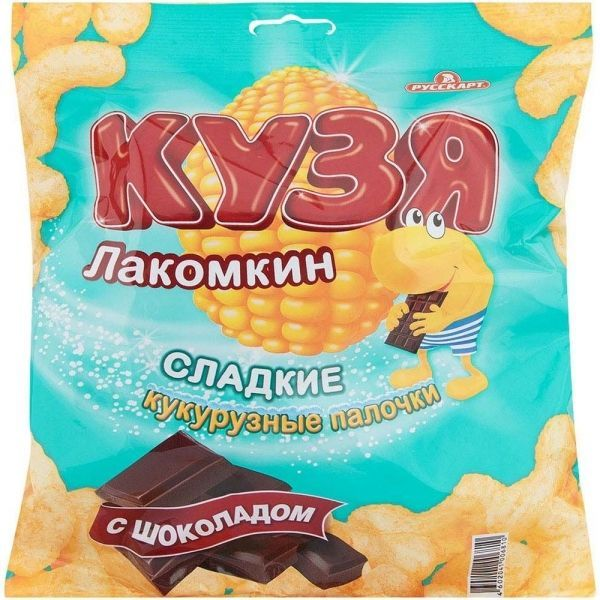 Палочки кукурузные Кузя Лакомкин с шоколадом