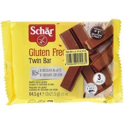 Вафли Schar 'Twin bar' в молочном шоколаде