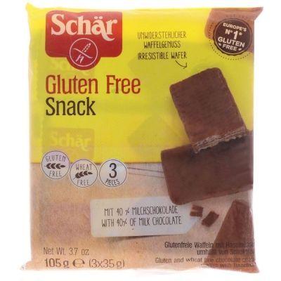 Вафли Schar 'Snack' в шоколаде с орехами