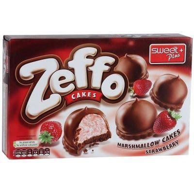 Пирожное маршмеллоу ZEFFO с какао-молочной глазурью с клубникой