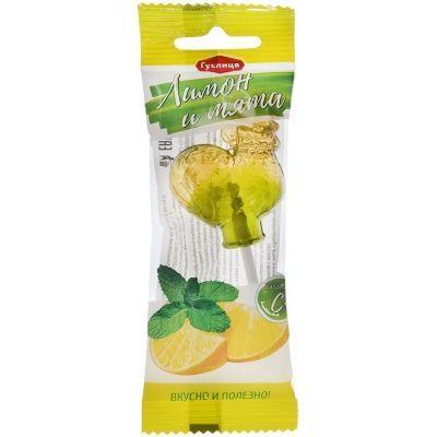 Леденцовая карамель с витамином С 'Петушок' Лимон и мята
