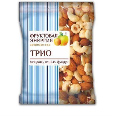 Смесь ореховая Фруктовая Энергия 'Трио' миндаль, кешью и фундук