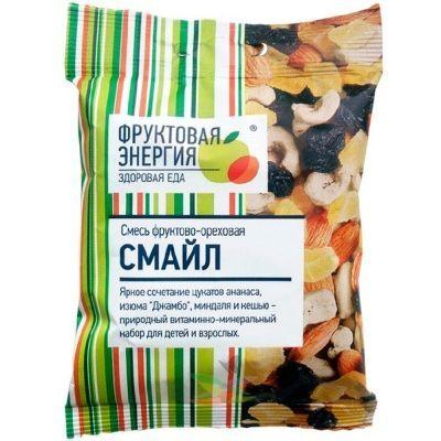 Смесь фруктово-ореховая Фруктовая Энергия 'Фрути-Смайл' миндаль, кешью, изюм, цукаты