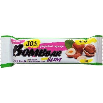 Батончик протеиновый 'Bombbar Slim' Арахис-Фундук