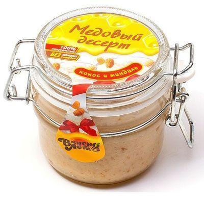 Крем-мед Вкуснолето 'Кокос и Миндаль' банка бугельная
