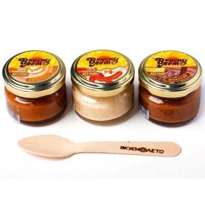 Набор подарочный Вкуснолето 'Медовые десерты' капучино, шоколад, кокос и миндаль