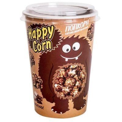 Попкорн в стакане Happy Corn со вкусом шоколада