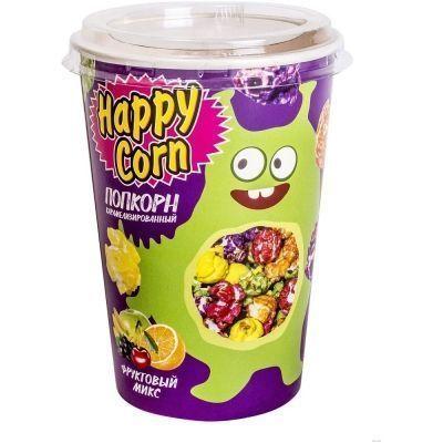 Попкорн в стакане Happy Corn фруктовый микс