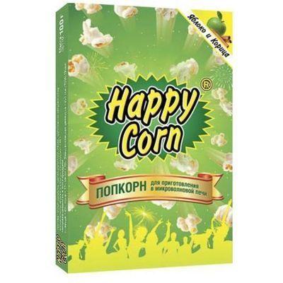 Попкорн для приготовления в микроволновой печи 'Happy Corn' Яблоко и корица
