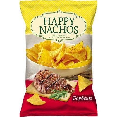 Чипсы кукурузные Happy Nachos со вкусом Барбекю