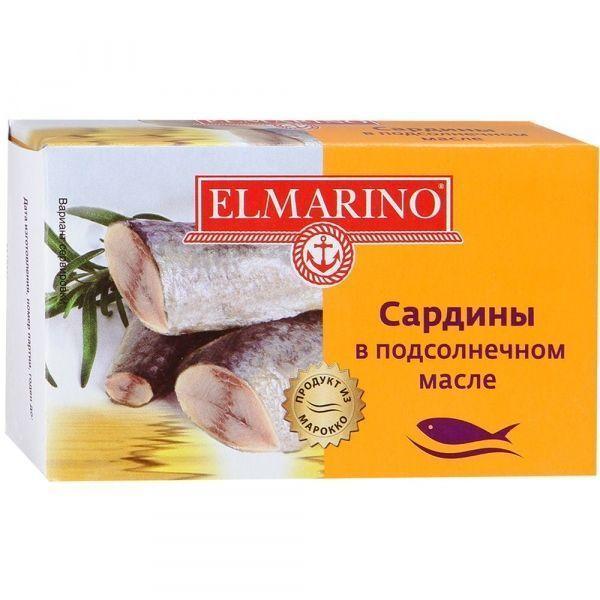 Сардины в подсолнечном масле Elmarino