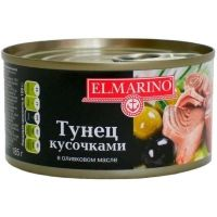 Тунец кусочками Elmarino в оливковом масле