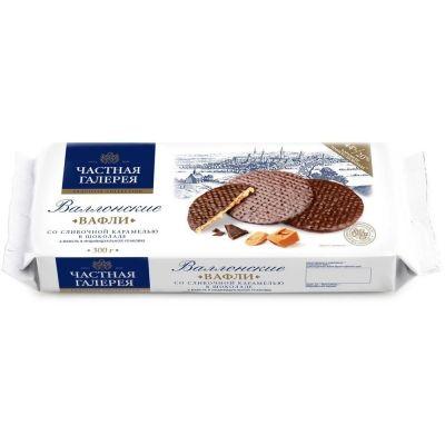 Вафли 'Частная Галерея' Валлонские со сливочной карамелью в шоколаде
