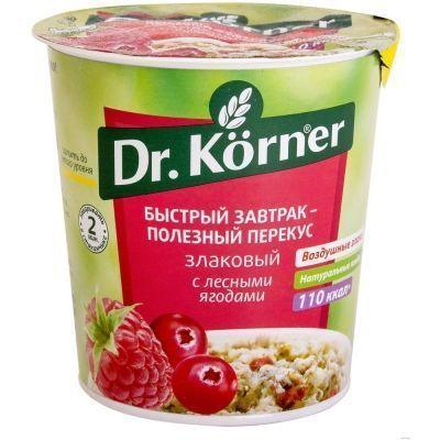 Каша быстрого приготовления Dr.Korner Злаковая с лесными ягодами