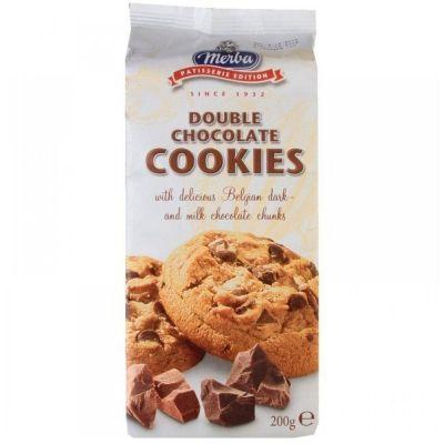 Печенье 'Мерба' два шоколада молочный и горький