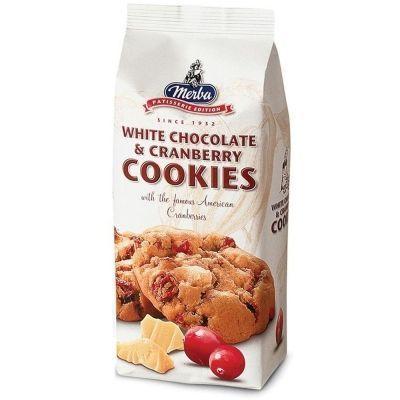 Печенье 'Мерба' с клюквой и белым шоколадом