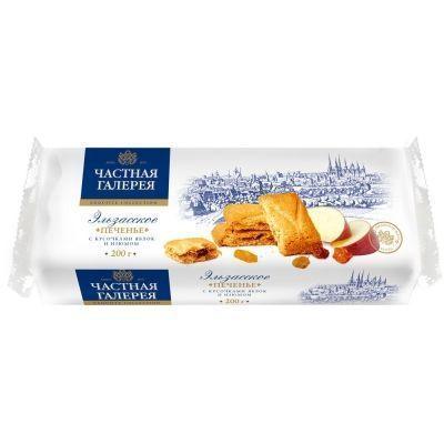 Печенье 'Частная Галерея' Эльзасское с кусочками яблок и изюмом