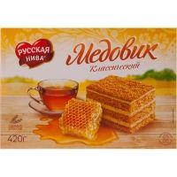 Торт Русская Нива песочный Медовик классический