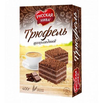 Торт Русская Нива песочный Трюфель шоколадный