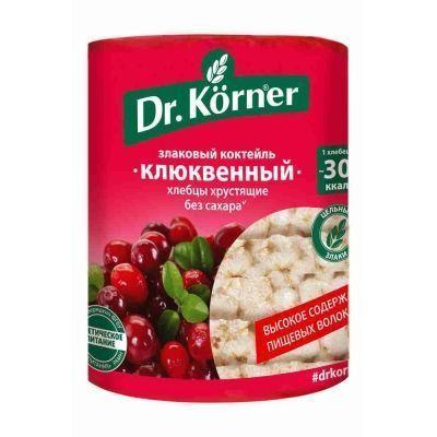 Хлебцы Dr.Korner Злаковый коктейль клюквенный