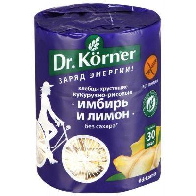 Хлебцы Dr.Korner Кукурузно-рисовые с имбирем и лимоном