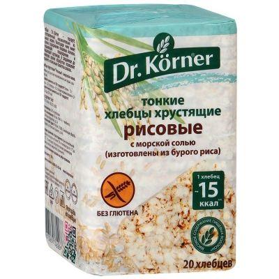 Хлебцы Dr.Korner Рисовые с морской солью