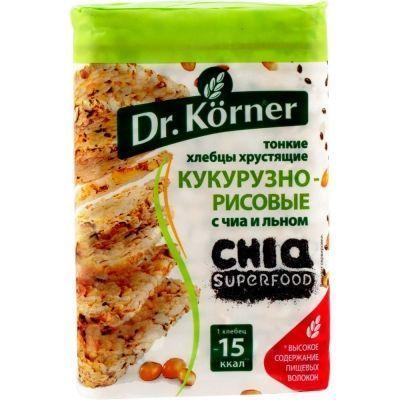 Хлебцы Dr.Korner хрустящие кукурузно-рисовые с чиа и льном