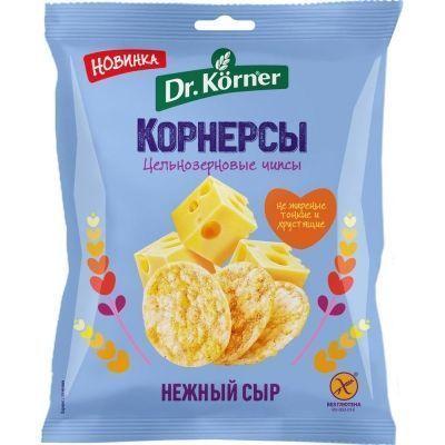 Чипсы Dr.Korner цельнозерновые кукурузно-рисовые с сыром