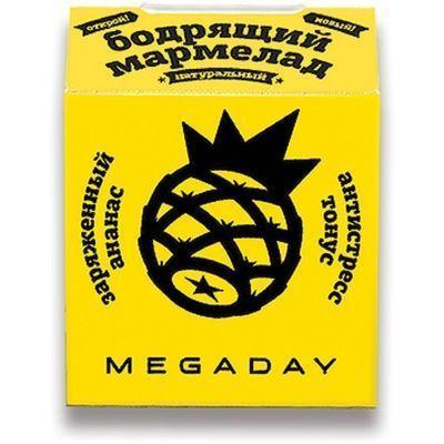 Жевательный мармелад Megaday Бодрящий мармелад антистресс тонус со вкусом ананаса