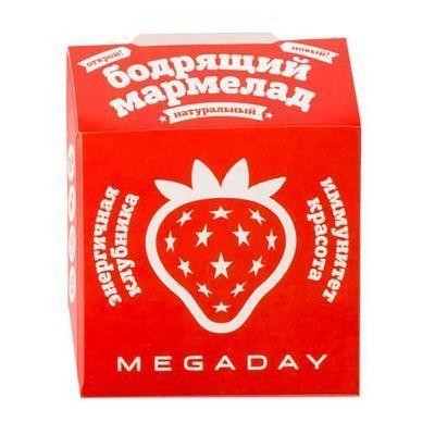 Жевательный мармелад Megaday Бодрящий мармелад иммунитет красота со вкусом Клубники