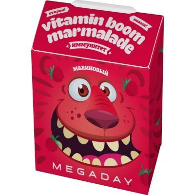Мармелад Megaday Kids Иммунитет со вкусом малины