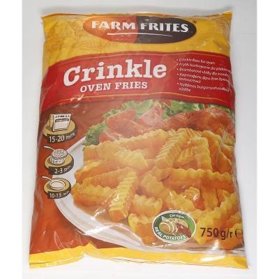 Картофель фри Farm Frites для духовки волнистый быстрозамороженный