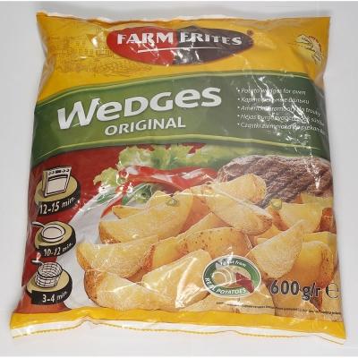 Картофельные дольки Farm Frites без специй быстрозамороженные