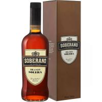 Бренди Соберано Солера в подарочной упаковке (Soberano Solera 0.70 Gift Box), 36 %