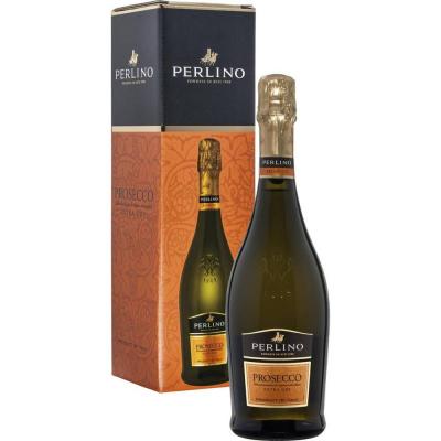 Вино игристое Просеко Перлино белое сухое в подарочной упаковке (Prosecco Perlino DOC EXTRADRY in gift box), 11 %