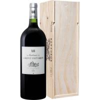 Вино Ларриве О - Брион Бордо 2015 красное сухое в деревянной подарочной упаковке (Larrivet Haut-Brion rouge 2015 wooden gift box), 9-15 %