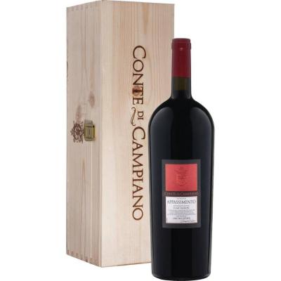 Вино Конте ди Кампьяно Аппассименто (подарочный) в подарочной упаковке (Conte di Campiano Appassimento in gift box), 14 %