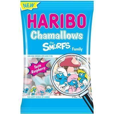 Зефирные конфеты Харибо Шамеллоуз Смурфики (Весёлое семейство)