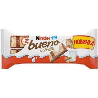 Батончик Kinder Буэно в белом шоколаде
