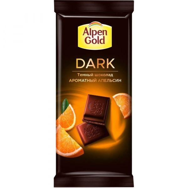 Шоколад Alpen Gold Dark тёмный с апельсиновыми кусочками