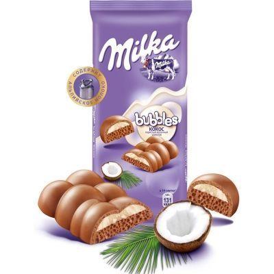 Шоколад Милка Bubbles с кокосом