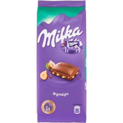 Шоколад Милка молочный с фундуком