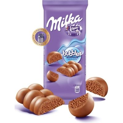 Шоколад Милка Bubbles пористый молочный